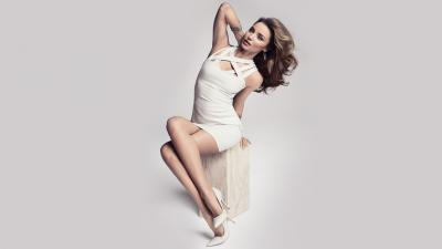 Miranda Kerr White Dress Wallpaper 53539