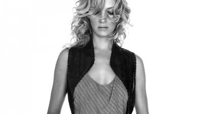 Monochrome Uma Thurman Wallpaper 54191
