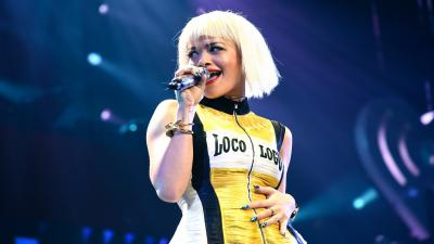 Rita Ora Performing HD Wide Wallpaper 57372