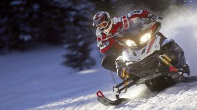 Snowmobile Desktop HD Wallpaper 53623