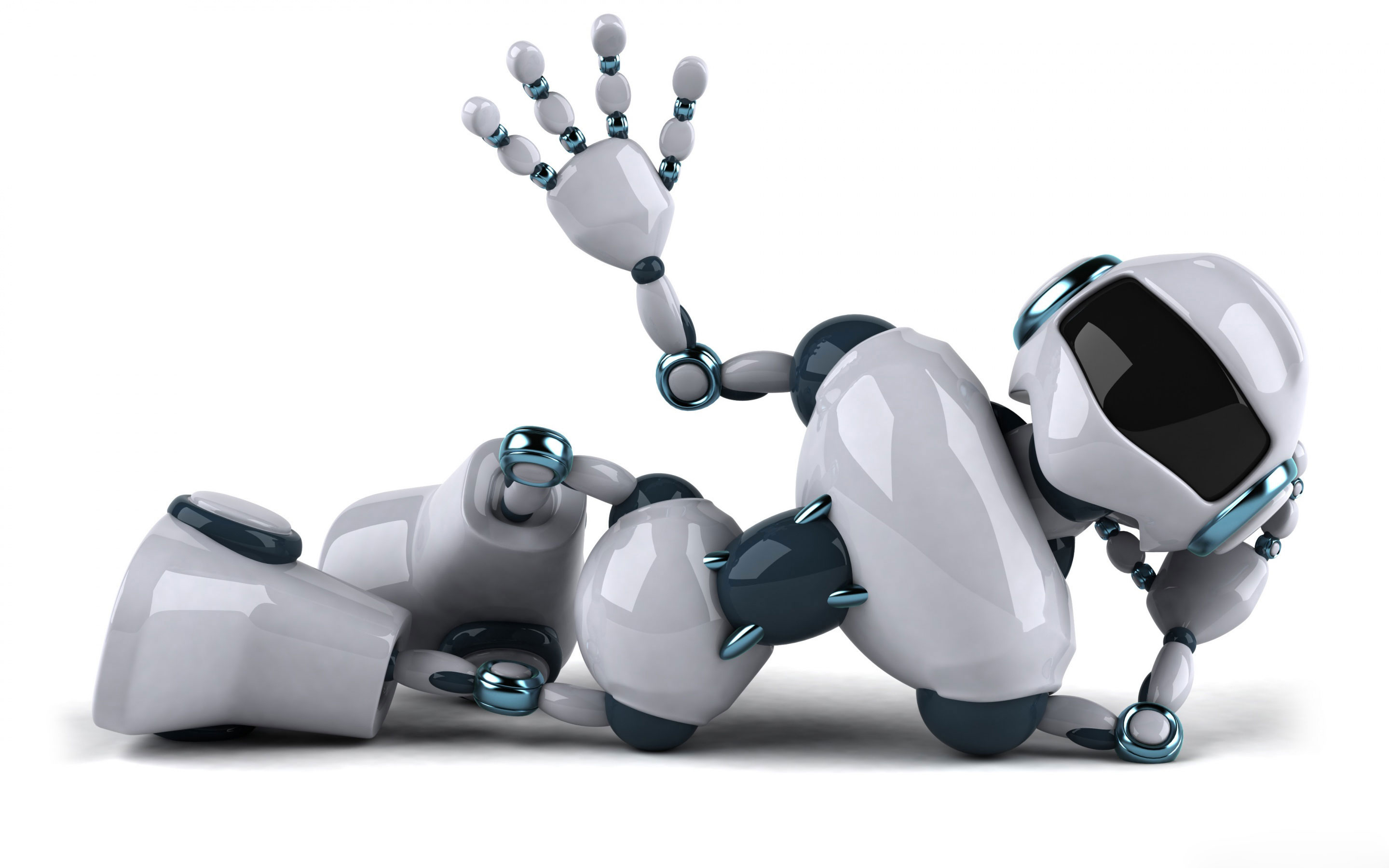 3d robot widescreen wallpaper 49974