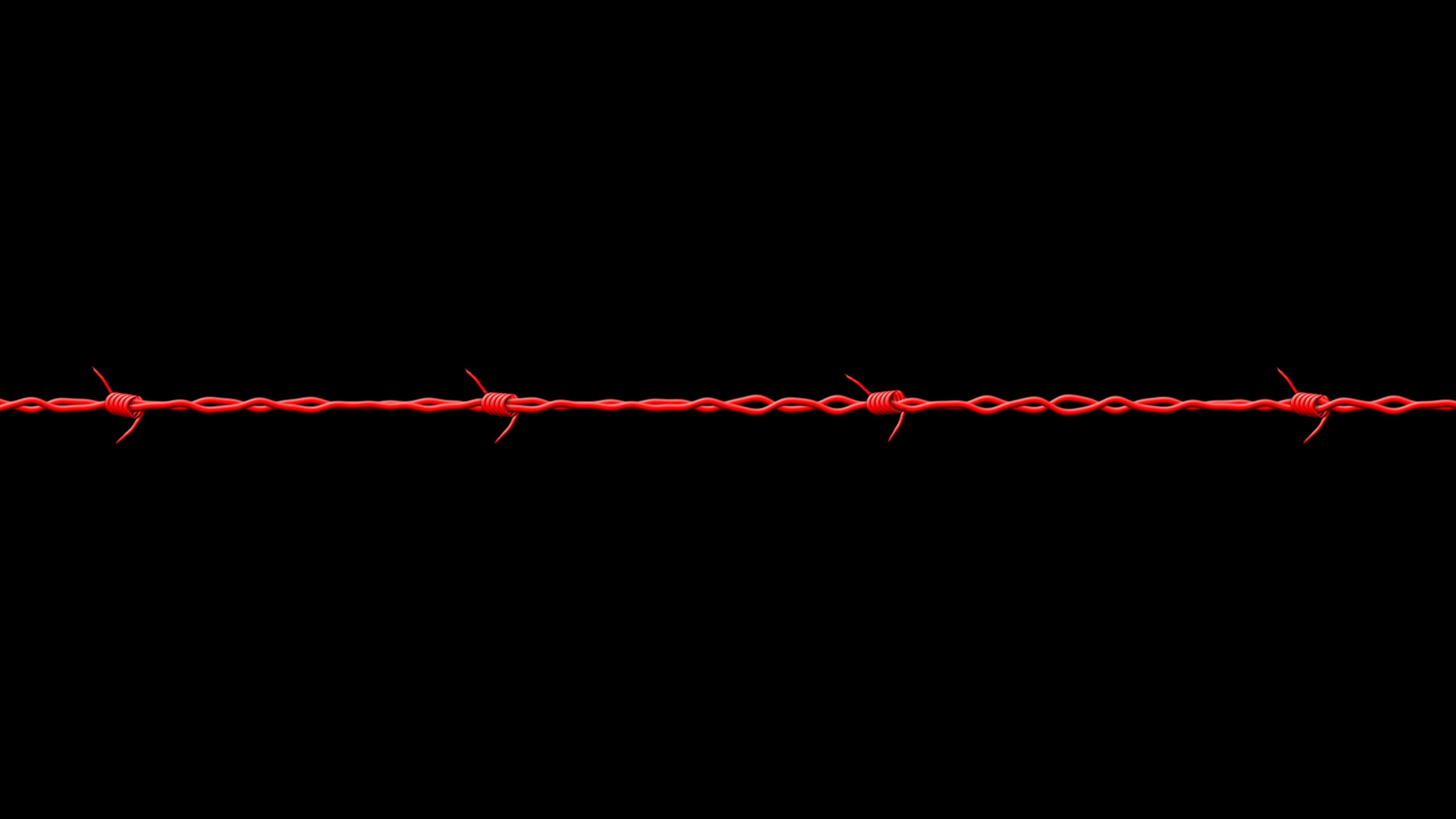 barb wire digital art wide wallpaper 54324