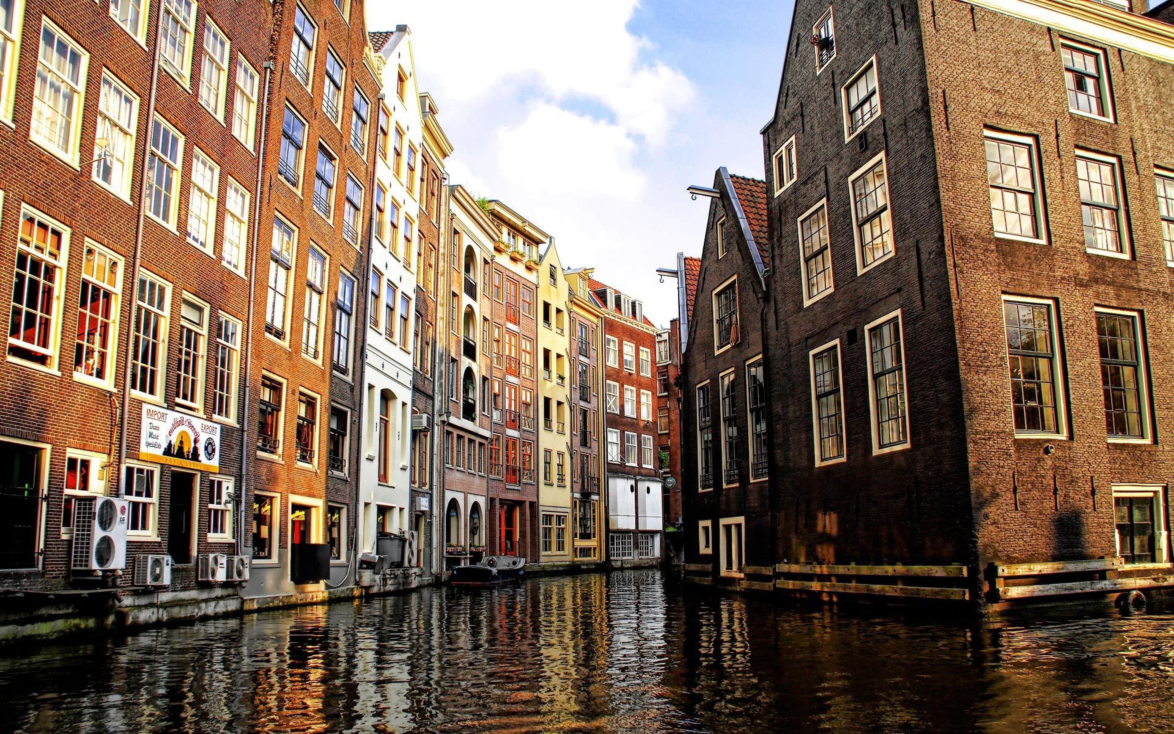 city canal widescreen wallpaper 51219