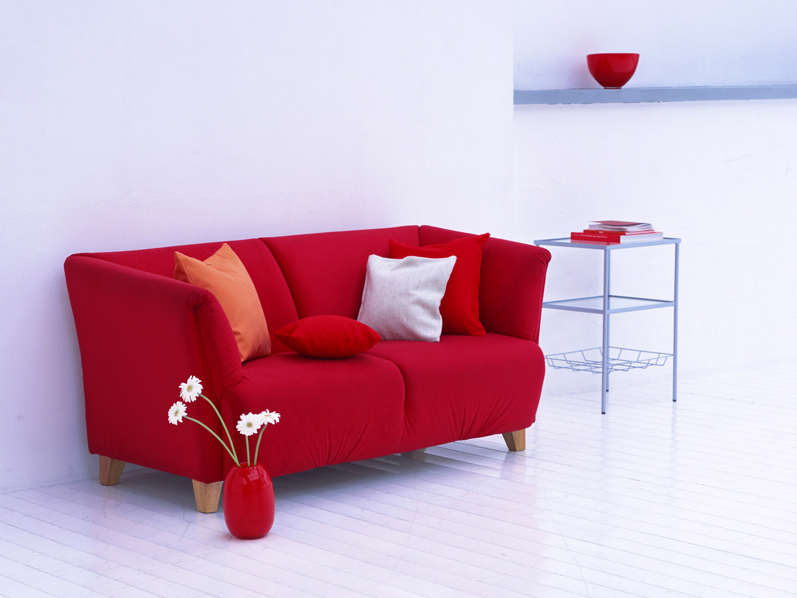 red couch computer wallpaper 49076