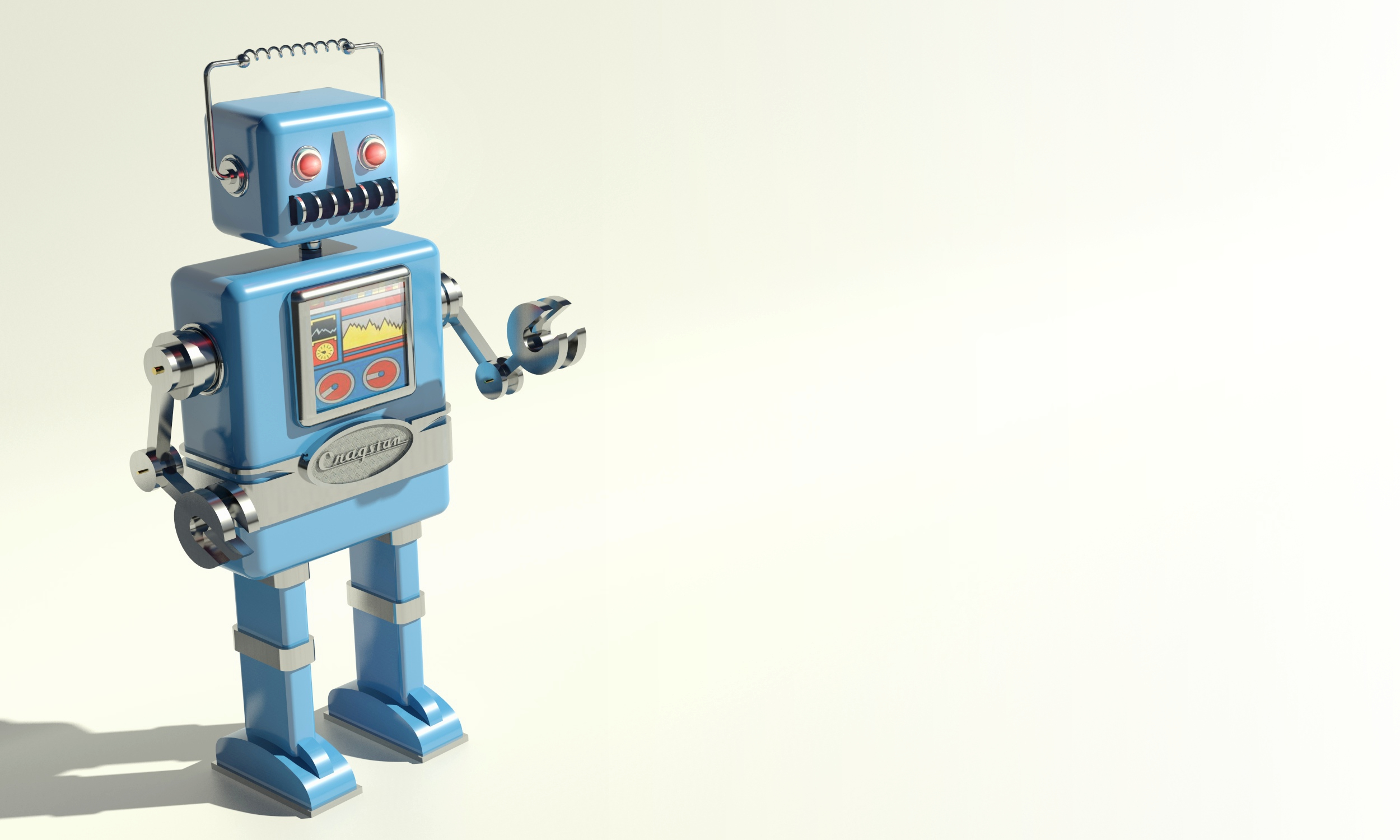 retro 3d robot wallpaper 49975