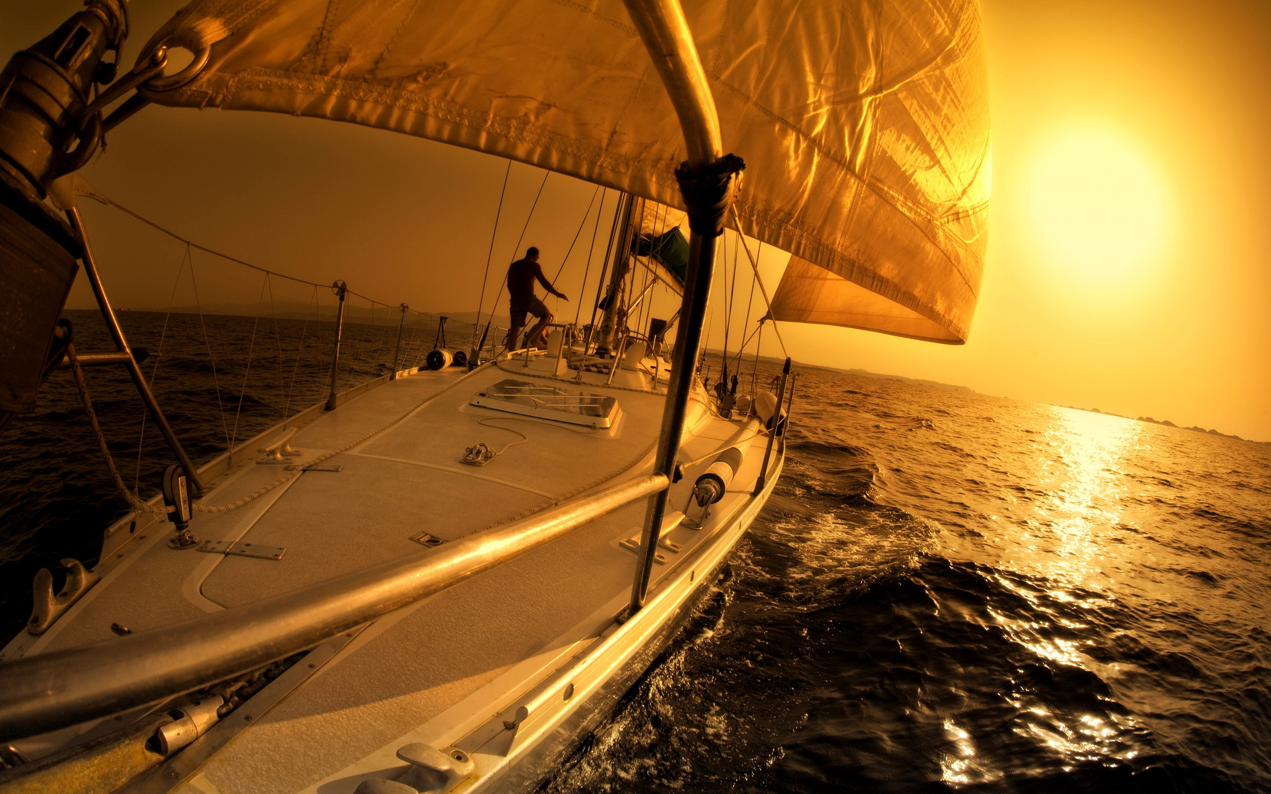 sailboat sunset widescreen wallpaper 51559