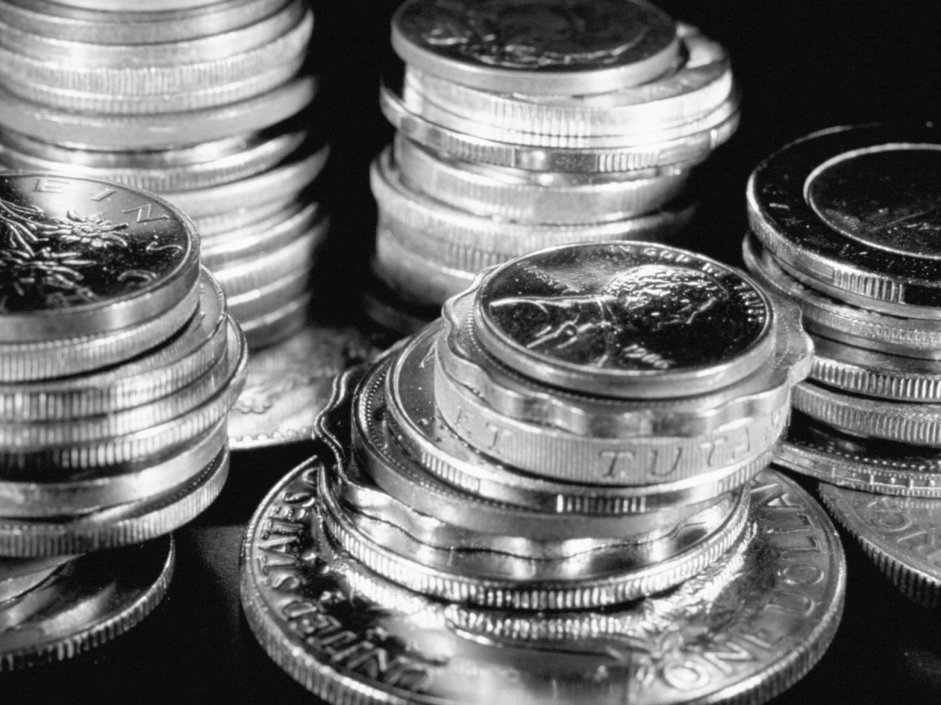 silver coins computer wallpaper 49527