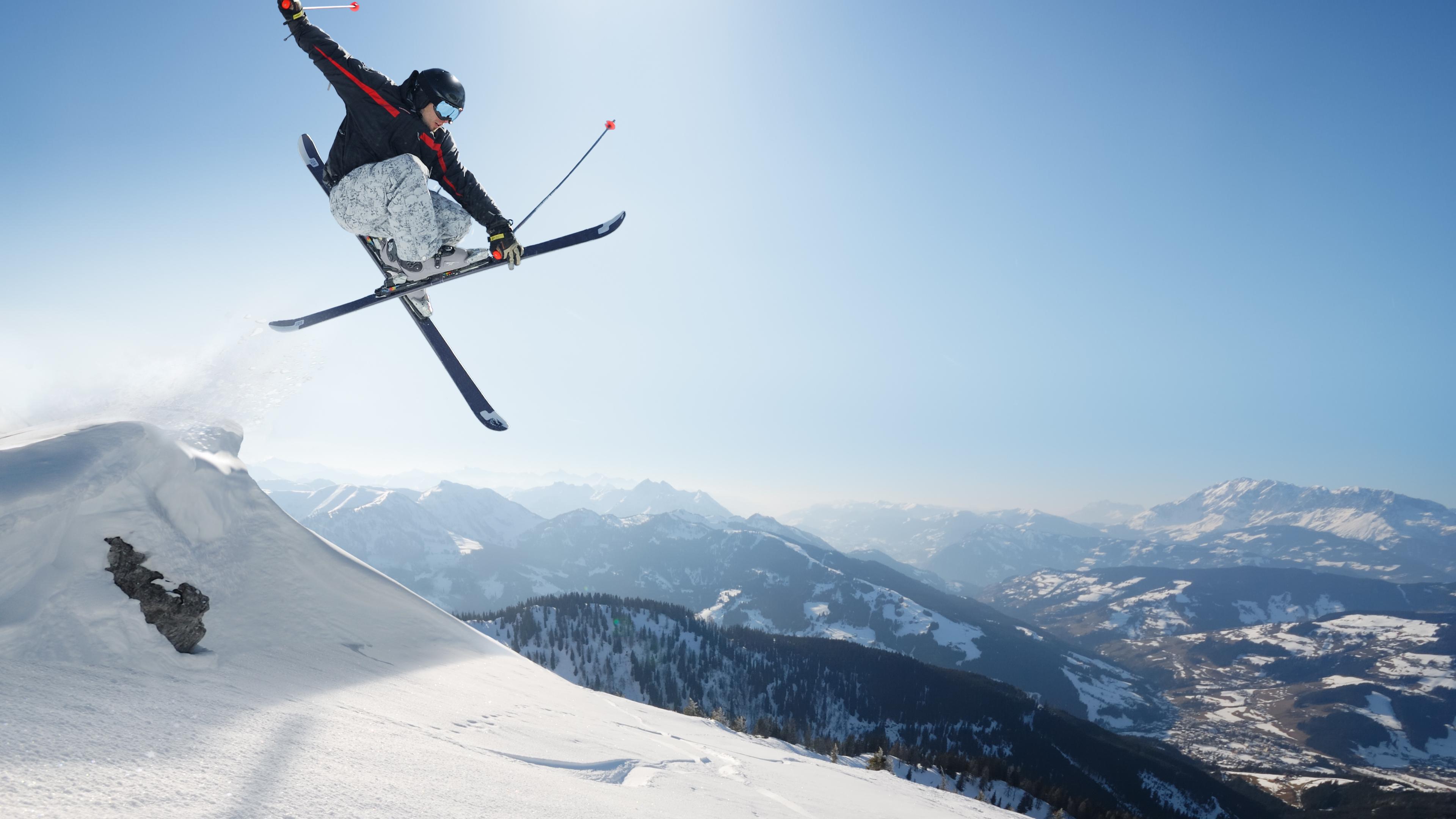 skiing trick widescreen wallpaper 53327