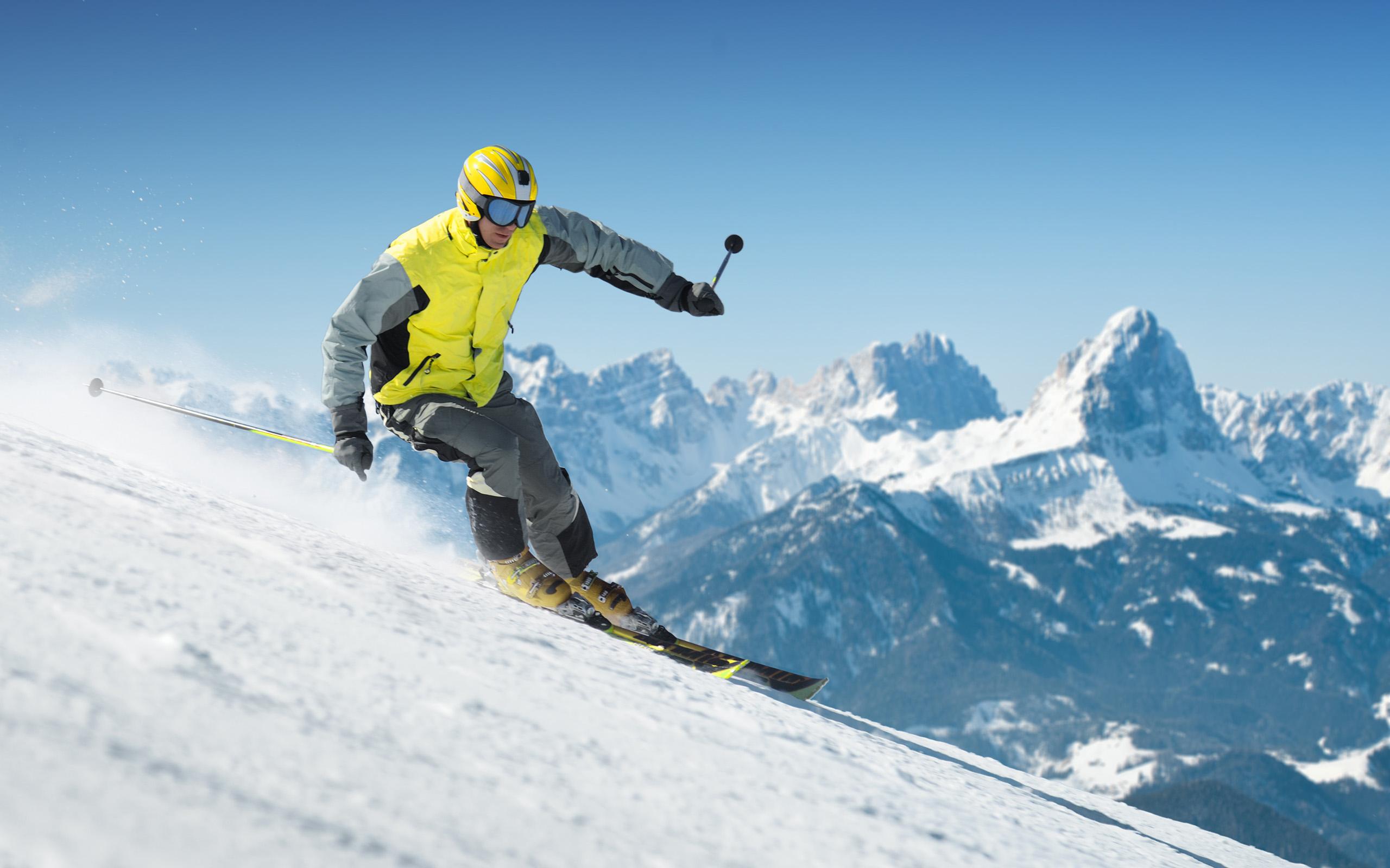 skiing wide wallpaper 53326