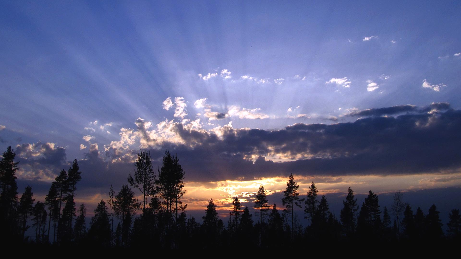 sunbeam sunset wallpaper 51538