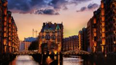 City Canal Evening Wallpaper 51227