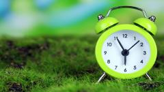Green Clock Widescreen Wallpaper 49496