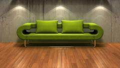 Green Couch Desktop Wallpaper 49072