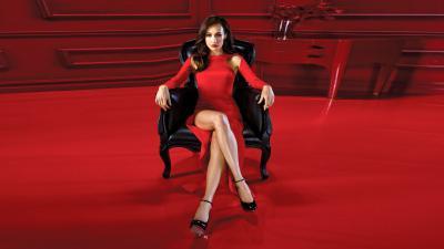 Maggie Q Red Dress Wallpaper 51493