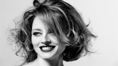 Monochrome Jodie Foster Widescreen Wallpaper 56848