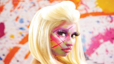 Nicki Minaj Face Widescreen Wallpaper 53369