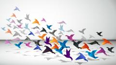 Origami Birds Art Desktop Wallpaper 49401