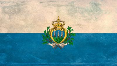 San Marino Flag Widescreen Wallpaper 52185