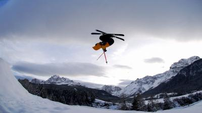 Skiing Backflip Computer Wallpaper 53336