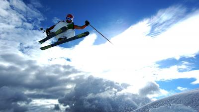 Skiing Jump Wallpaper 53320