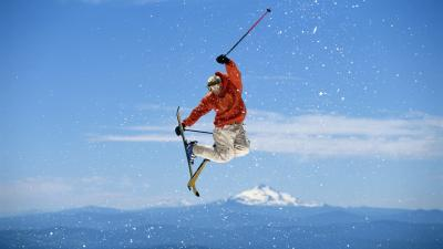 Skiing Trick Wallpaper Background 53330