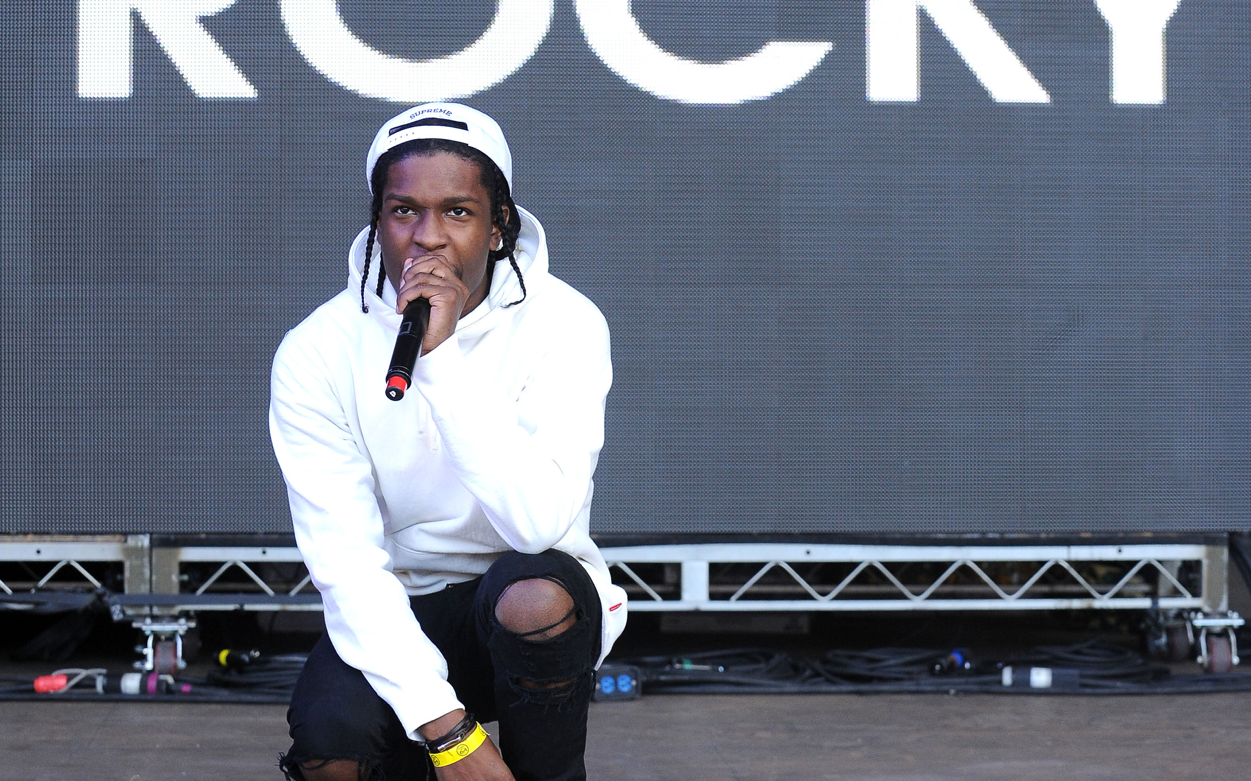 asap rocky performing wallpaper background 59046