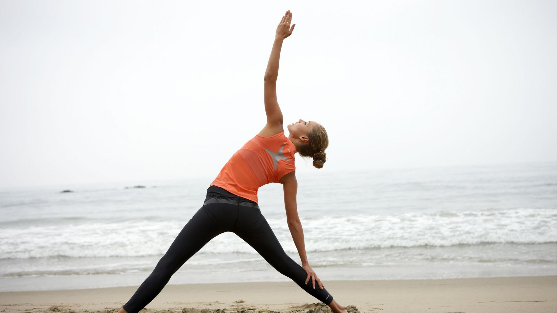 beach yoga desktop wallpaper 61324