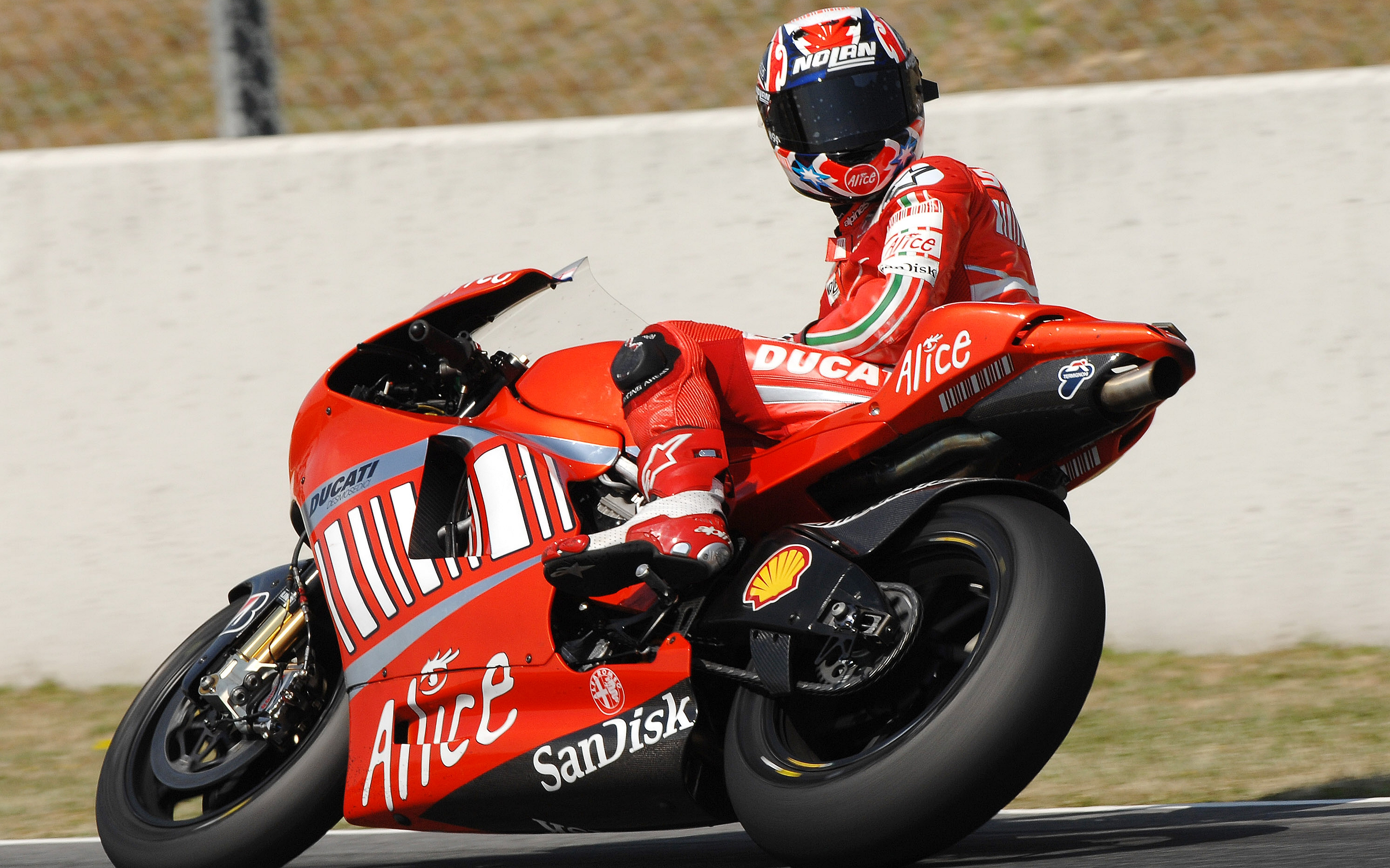 red ducati bike widescreen wallpaper 60233