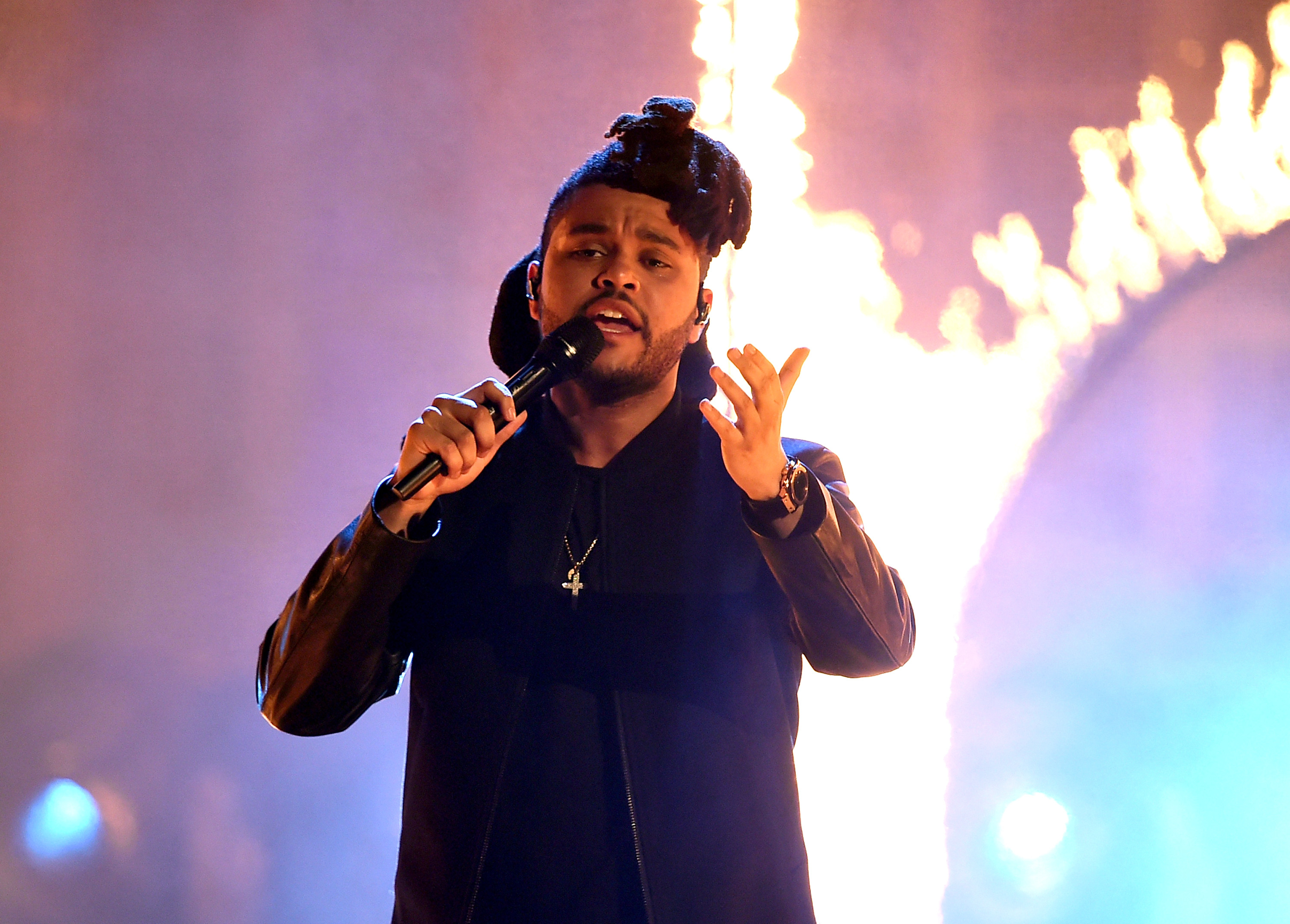 the weeknd performing wallpaper 60123