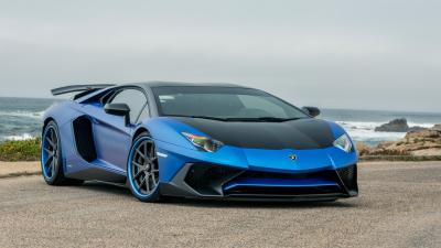Blue Lamborghini Car Widescreen Wallpaper 59994
