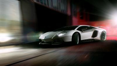 Lamborghini Rolling Shot Wide Wallpaper 59984