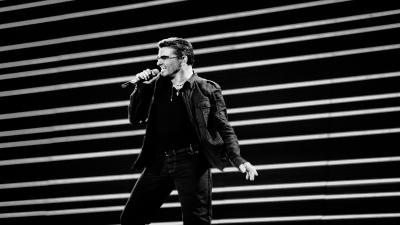 Monochrome George Michael Wide Wallpaper 61644