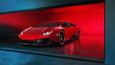 Red Lamborghini Widescreen HD Wallpaper 59985
