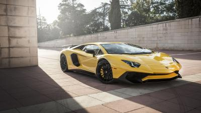 Yellow Lamborghini Car Wide HD Wallpaper 59987