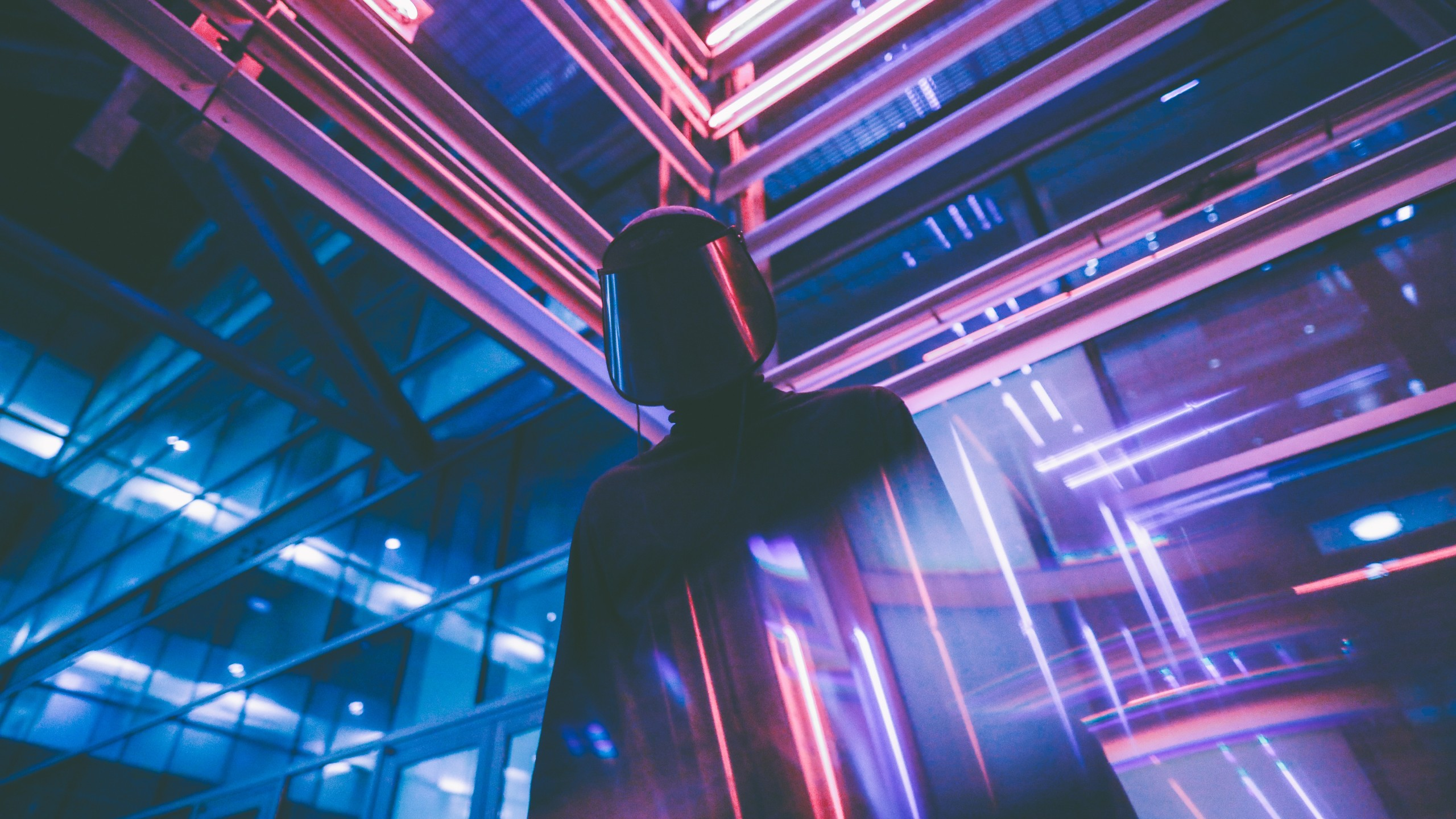 futuristic neon lights wallpaper background 62459