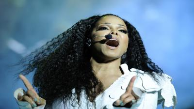 Janet Jackson Performing Wallpaper Background 60104