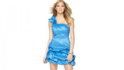 Kate Upton Blue Dress Wallpaper 60211