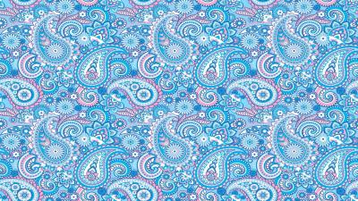 Blue Paisley Desktop Wallpaper 61424