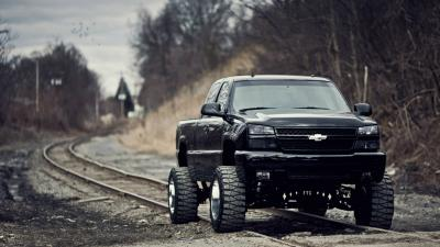 Lifted Black Chevrolet Silverado Wallpaper 62185