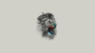 Lion With Crown Desktop Wallpaper 62462