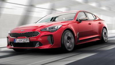 Red Kia Stinger Rolling Shot Wallpaper 59816
