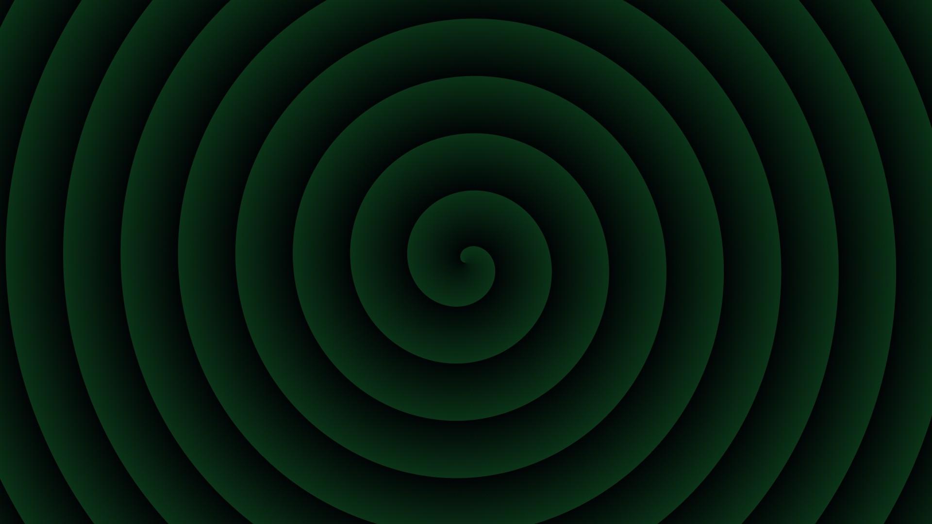 abstract green spiral wallpaper 62286