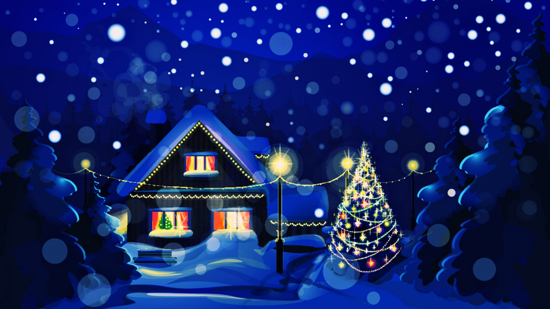 christmas digital art desktop wallpaper 62366