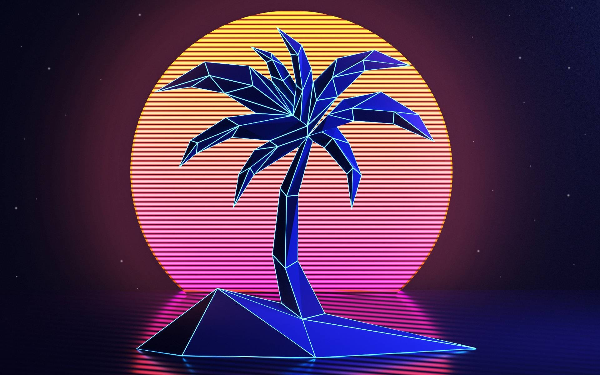 retro neon desktop hd wallpaper 62118