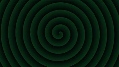 Abstract Green Spiral Wallpaper 62286