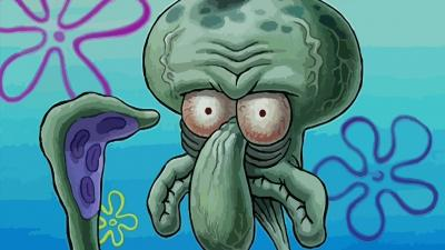 Funny Squidward Face Wallpaper 62467