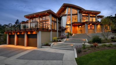 Modern Luxury House Desktop HD Wallpaper 62362