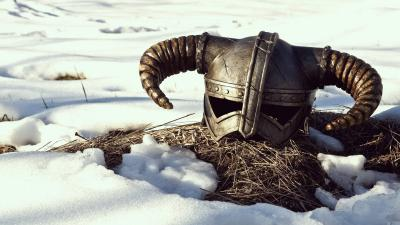 Skyrim Game Helmet Wallpaper Background 60566