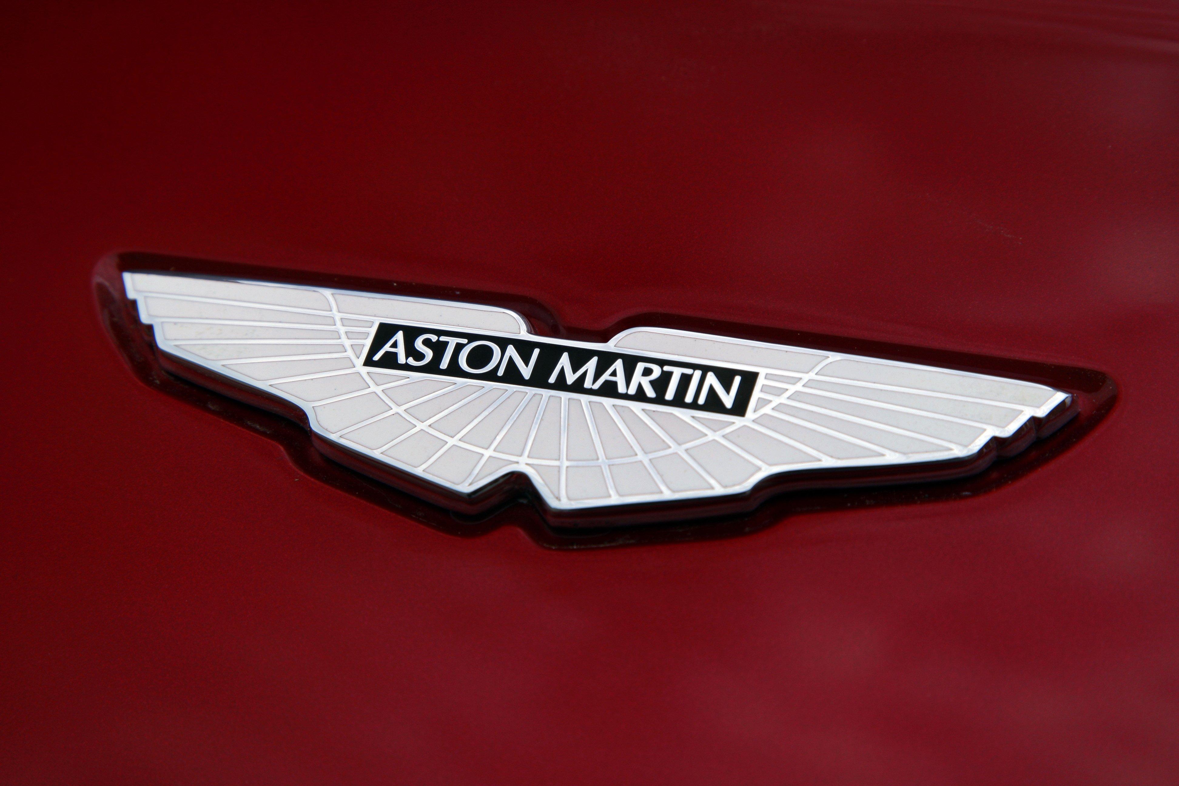 aston martin logo widescreen wallpaper 59087