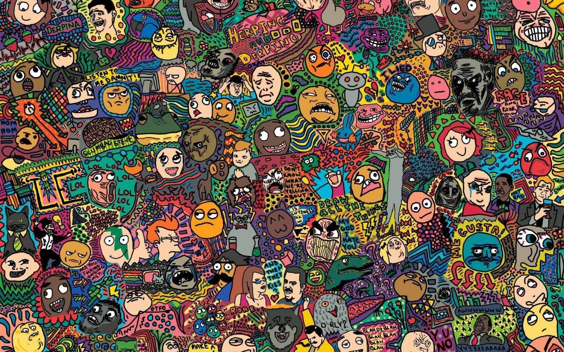 Meme Collage Wallpaper 62478 1920x1200px